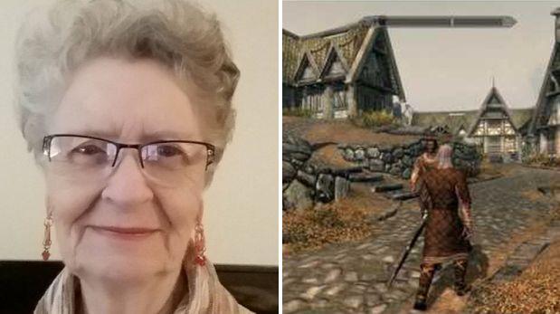 YouTube: mujer de 80 años es la mayor fanática de Skyrim