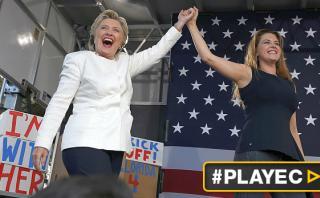 Clinton y Alicia Machado criticaron retórica agresiva de Trump