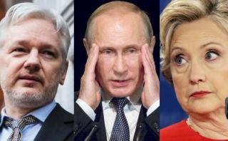 Assange exculpa a Rusia del ataque cibernético contra Clinton