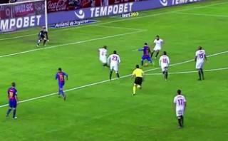 Messi y su jugada de fantasía contra Sevilla que debió ser gol