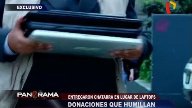 Pronabec donó laptops 'cascarón' a colegios de bajos recursos