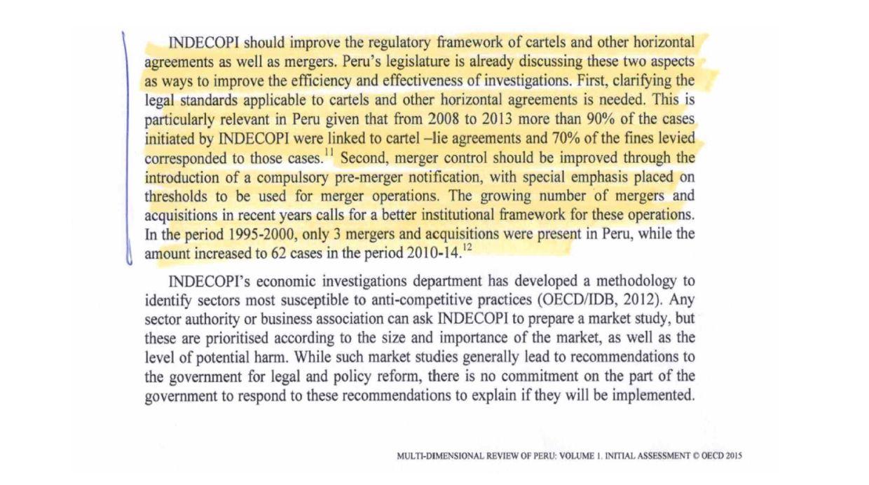 Recomendación de la OCDE al Perú