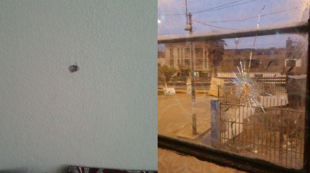Una bala cayó en la vivienda de vecinos de SMP y los puso en alerta. (Foto: WhatsApp)