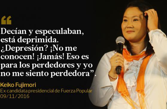 Las frases que dejó Keiko Fujimori en su reaparición pública