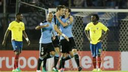 Uruguay ganó 2-1 a Ecuador en Montevideo por las Eliminatorias
