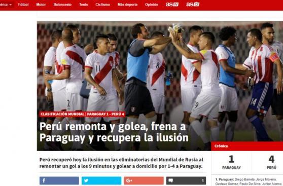 La opinión de la prensa mundial tras histórica goleada de Perú