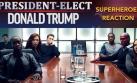 Así 'reaccionan' los superhéroes al triunfo de Trump