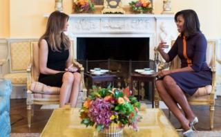 "Trump: ""A Melania le gustó mucho Michelle Obama"""
