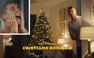 """Cristiano parodia a """"Mi pobre angelito"""" en spot de Navidad"""