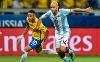 La molestia de Mascherano por regates de Neymar ante Argentina