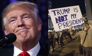"""Donald Trump ahora alaba la """"pasión"""" de los manifestantes"""