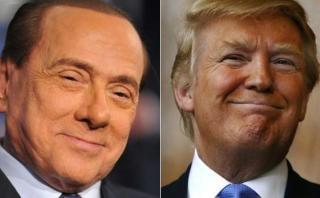 """Berlusconi admite """"analogías evidentes"""" entre él y Trump"""