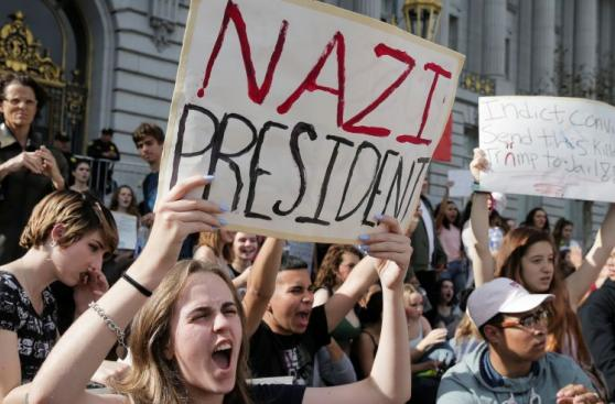 Racismo, grafitis y marchas tensan las calles de EE.UU. [FOTOS]