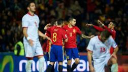 España goleó 4-0 a Macedonia por Eliminatorias europeas 2018