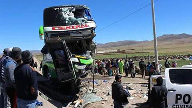 Accidente de tránsito deja dos muertos y 32 heridos en Junín