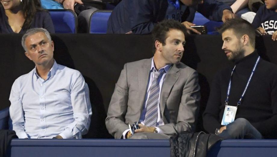 Mourinho y Piqué coincidieron en Londres para ver a Djokovic