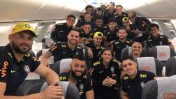 Neymar publicó foto de la selección brasileña rumbo a Lima