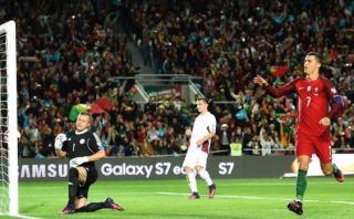 Cristiano Ronaldo anotó de penal con Portugal en Eliminatorias