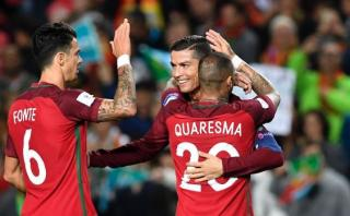 Cristiano Ronaldo marcó doblete ante Letonia con potente volea