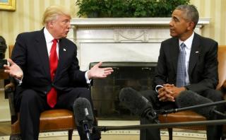 Trump revela sobre qué conversó con Obama en la Casa Blanca