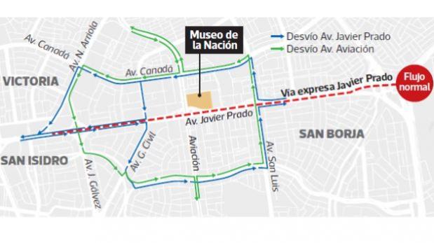 San Borja: desde hoy aplica el plan de desvíos por APEC [MAPA]  San Borja: desde hoy aplica el plan de desvíos por APEC base image