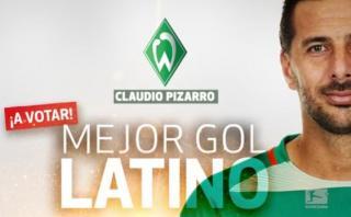 Claudio Pizarro: vota para que su gol sea premiado en Alemania
