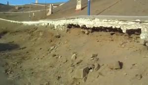 Advierten desmoronamiento de camino que conduce al Morro Solar