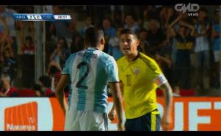 James Rodríguez se enojó por falta y Messi tuvo que calmarlo