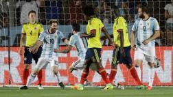 Argentina se recuperó y goleó 3-0 a Colombia por Eliminatorias