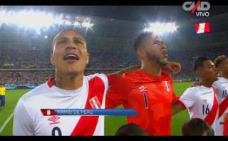 Selección peruana: así se escuchó Himno Nacional ante Brasil