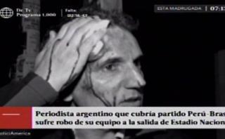 Perú vs. Brasil: periodista extranjero sufrió robo de equipos