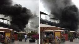 Larcomar: los primeros minutos del incendio en videos