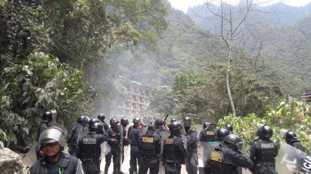 Machu Picchu: un agente herido en enfrentamiento con moradores