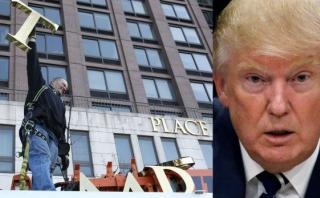 Vecinos de Nueva York quitan nombre de Trump de sus edificios