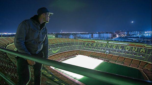Mira lo que vieron escaladores del Camp Nou del FC Barcelona