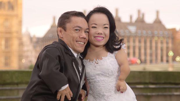 Esta pareja de novios celebró su boda con un récord Guinness