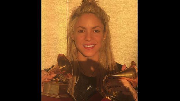 Facebook: así agradeció Shakira sus dos premios Grammy Latino