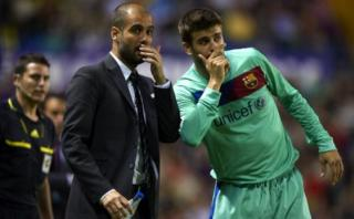 Guardiola votará por Piqué si postula a presidencia del Barza