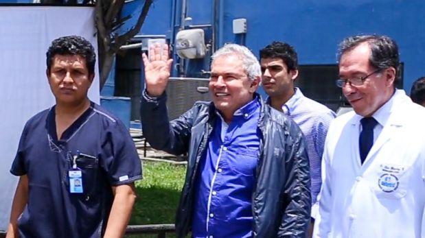 Luis Castañeda fue dado de alta tras sufrir infarto