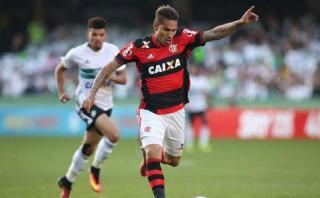 Con Guerrero: Flamengo empató 2-2 ante Coritiba en Brasileirao