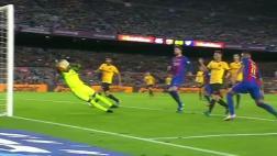 Genial atajada de Kameni a Neymar que impidió triunfo del Barza