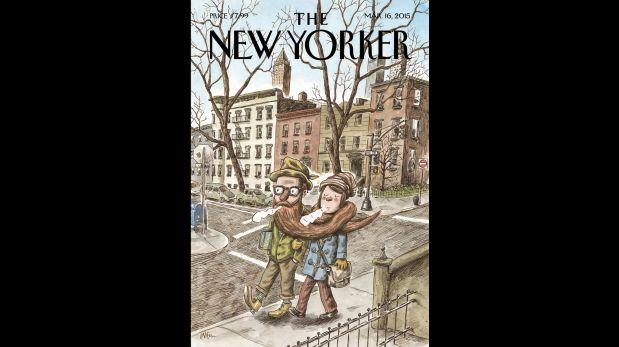 Portada del New Yorker del 16 de marzo del 2015, ilustrada por Liniers.