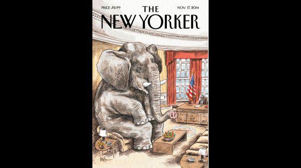 Portada del New Yorker del 17 de noviembre del 2014, ilustrada por Liniers.