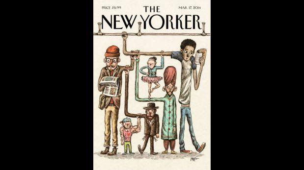 Portada del New Yorker del 17 de marzo del 2014, ilustrada por Liniers.