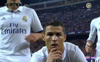 Cristiano: gol de penal y curiosa celebración ante las cámaras