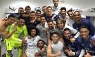 Real Madrid celebró en el vestuario tras ganar derbi español