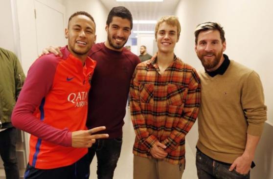 Barcelona: Justin Bieber vio prácticas y se divirtió con Neymar