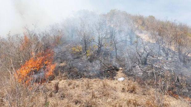 Unas de las áreas afectadas por el fuego es el Refugio de Vida Silvestre Laquipampa. (Foto: Sernanp)