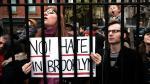 Esvástica y mensaje pro-Trump desatan protesta en Brooklyn - Noticias de adam kaplin