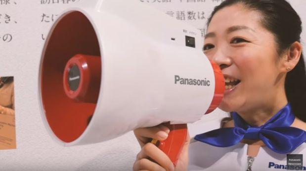 El megáfono traductor que creó Panasonic [VIDEO]
